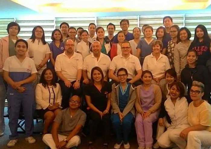 ULHT staff with new nursing recruits in the Philippines.
