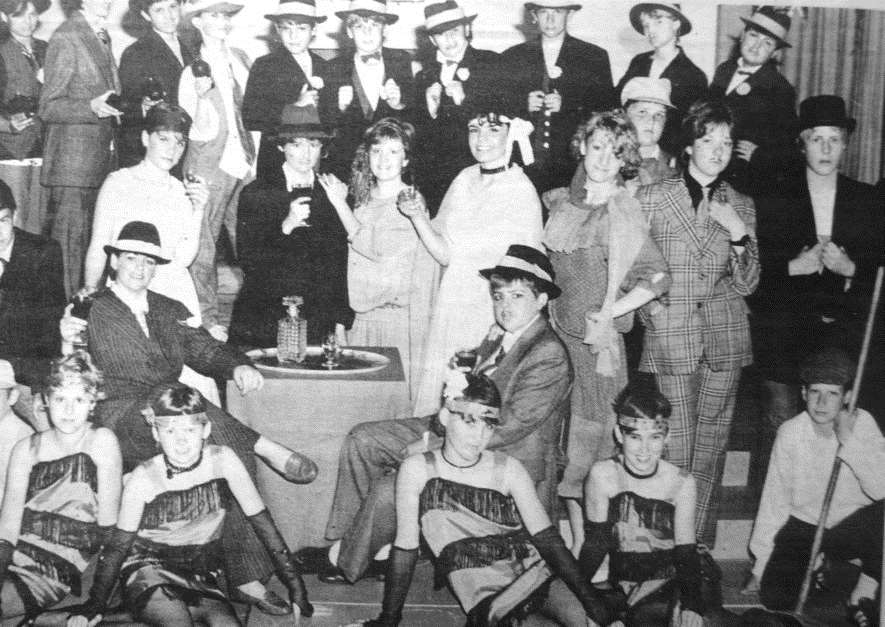 Belvoir High School's Bugsy Malone production, 1986.