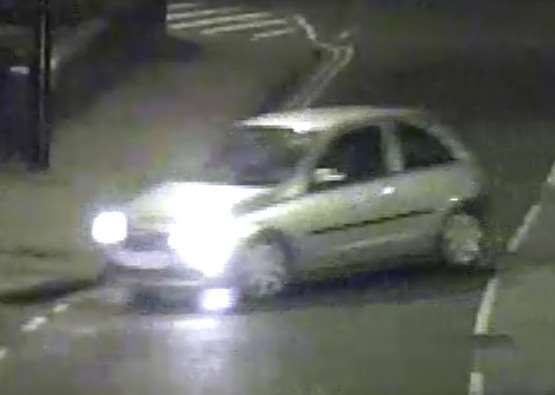A Vauxhall Corsa which police have identifed in connection with an assault in Grantham.