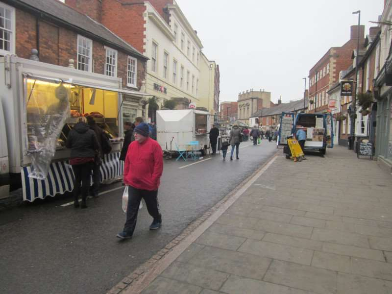 A quiet day at Grantham market