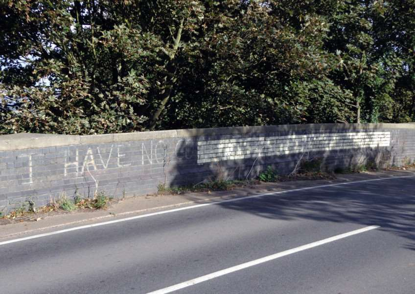 Terry Welbourn sent in this photo of what he believes is historic political graffiti on the bridge at Leadenham.