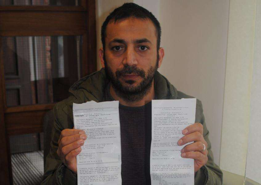 Mahmut Boztemir claims his delivery drivers receive at least one parking ticket a week.