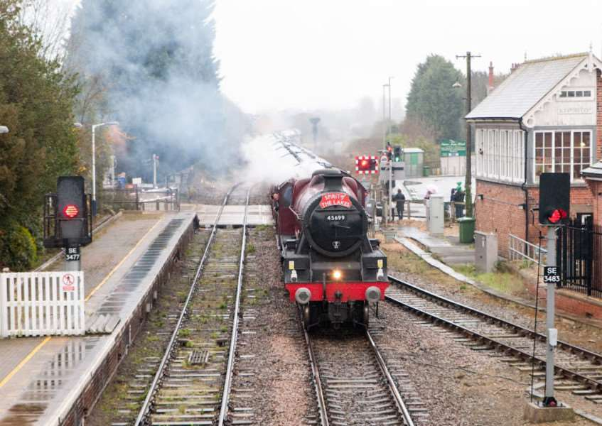 The LMS Jubilee 45699 Galatea makes it way through Sleaford this morning. All photos courtesy of Councillor Mark Suffield.