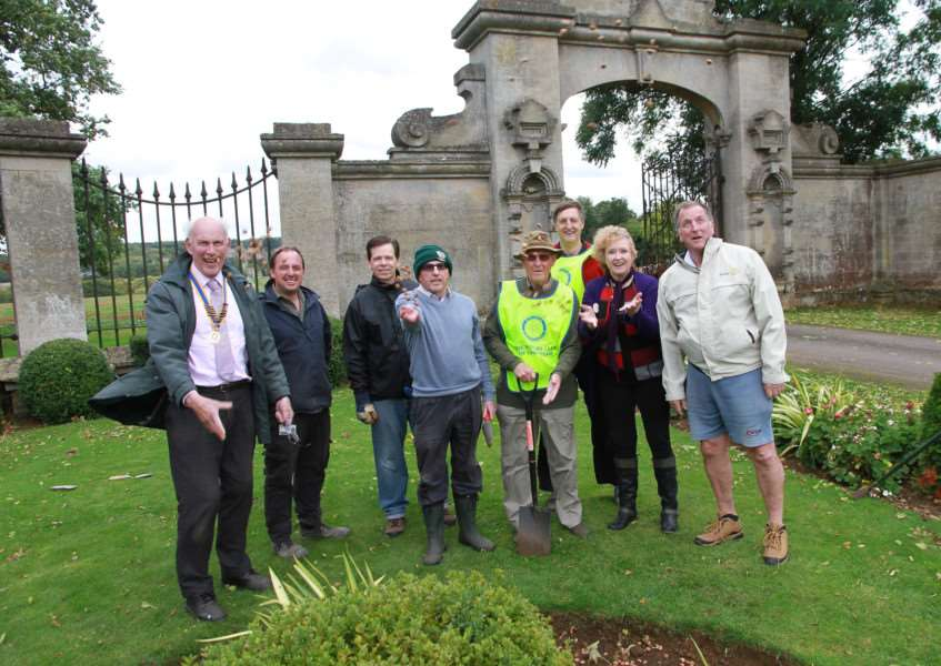 Grantham Rotarians have planted crocuses at Harlaxton Manor in the lead up to World Polio Day.