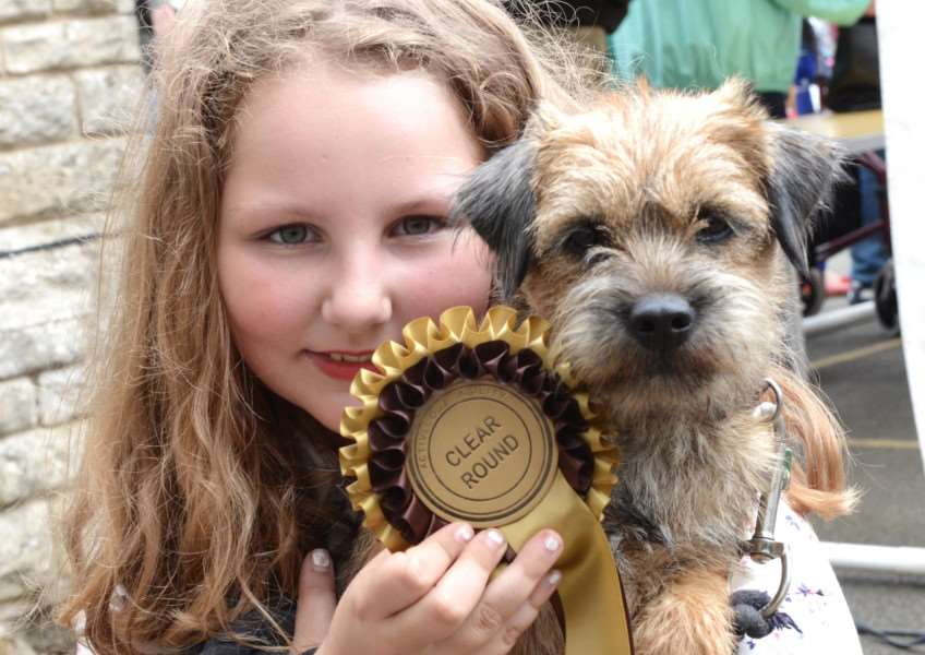 Buckminster summer fete: Fleur Holmes with Ginger Snapper