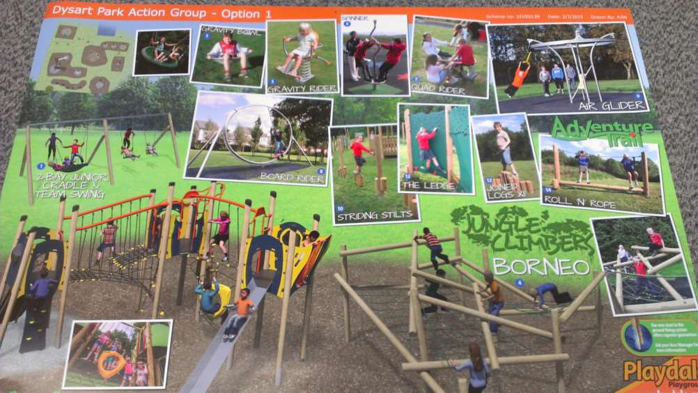 Design for new play area at Dysart Park.