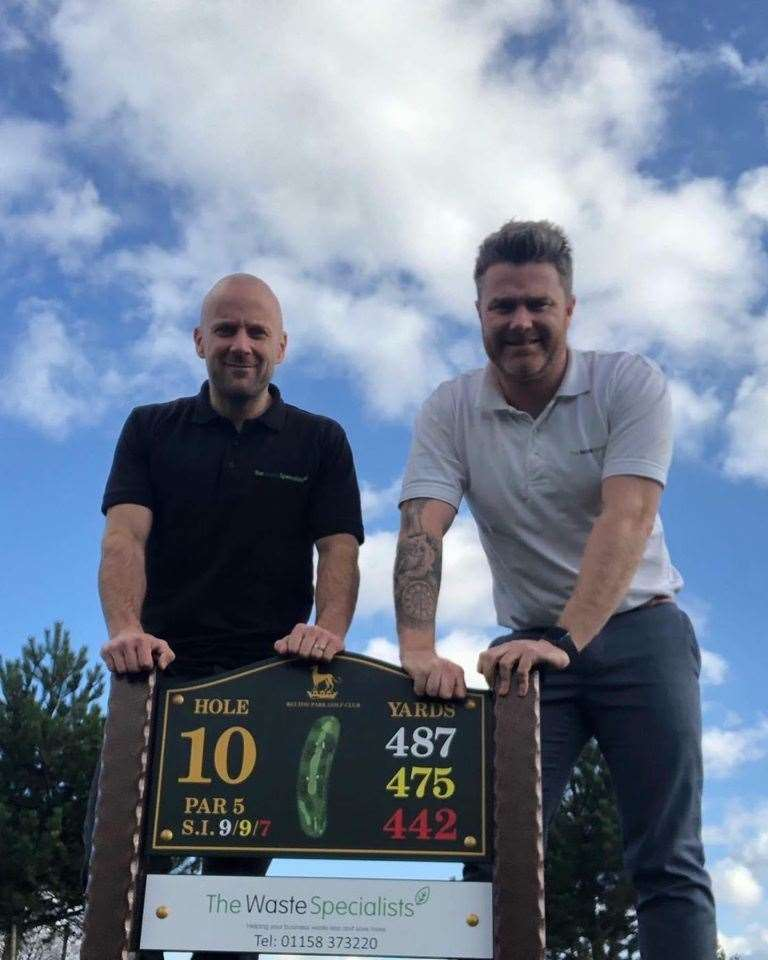 Founders of The Waste Specialists, Paul Whittaker and David Brighton, at Belton Park Golf Club. (43861187)