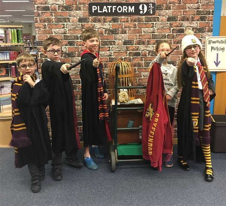 These youngsters got into character at last year's Harry Potter night at Grantham Library. (27931414)