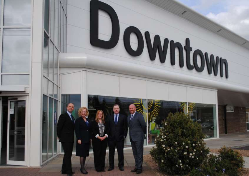 Downtown management team - from left, Paul Marsh, June Parker, Lisa Bracey, Stephen Hurley and Marcus Meadows.