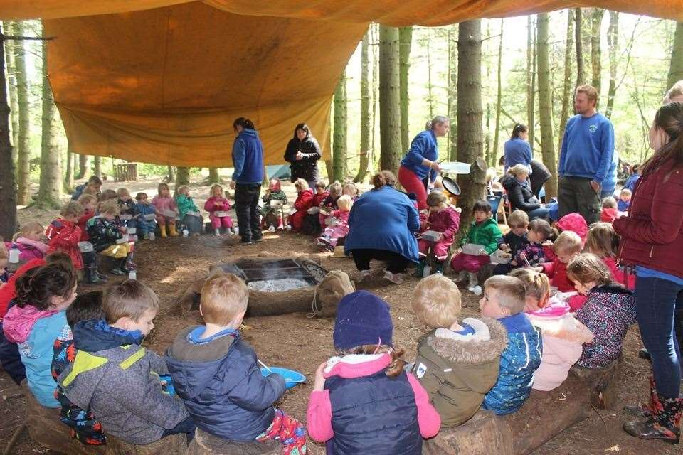 Staff and youngsters at Great Wood Farm EYC celebrated their tenth anniversary this week. (9494199)