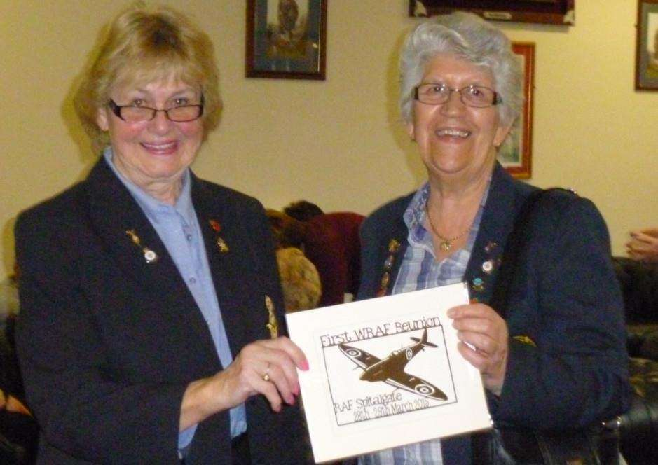 Former WRAF trainees Maureen Scott Smith and Barbara Clough.