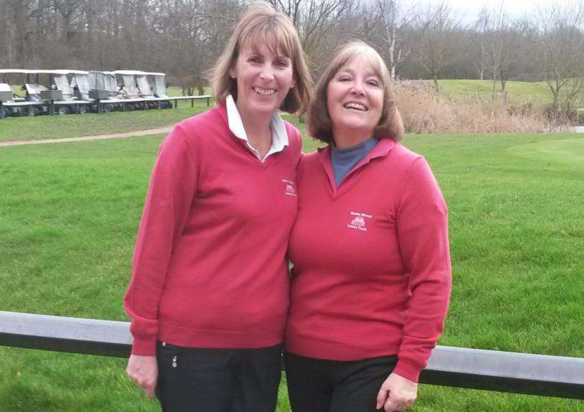 Daily Mail Foursomes winners from Belton Woods - Lesley Perrin and Val Williams.