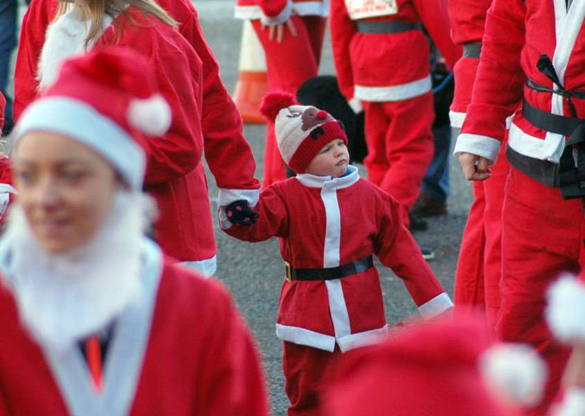 Why is everyone dressed as Father Christmas? PHOTO: Tim Williams