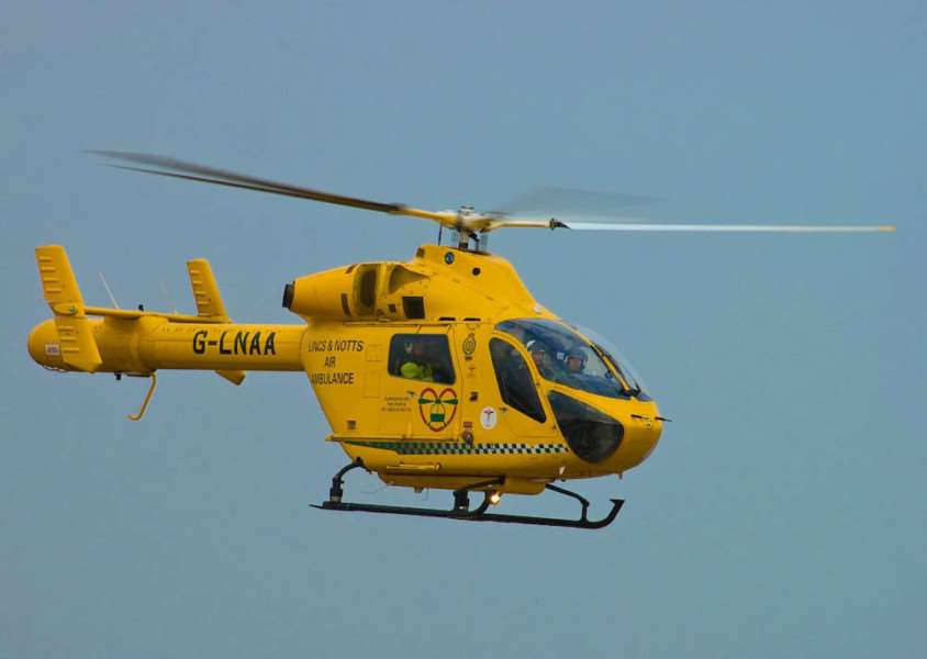 Library picture: Lincolnshire and Nottinghamshire air ambulance.
