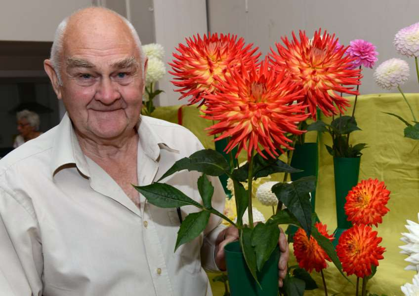 Harrowby Horticultural Show. Pictured is Alan Skelton