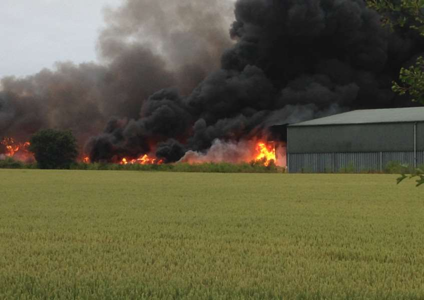 Ash sent us these dramatic photos of the fire near Ancaster