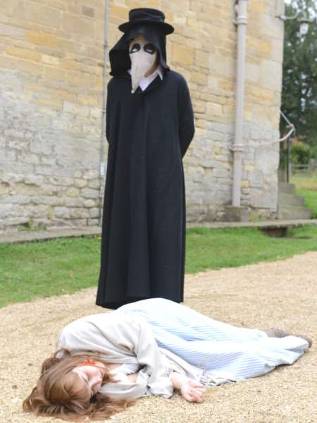 The plague comes to Woolsthorpe manor where the Gravity Fields Festival 2016 was launched. Photo: Toby Roberts