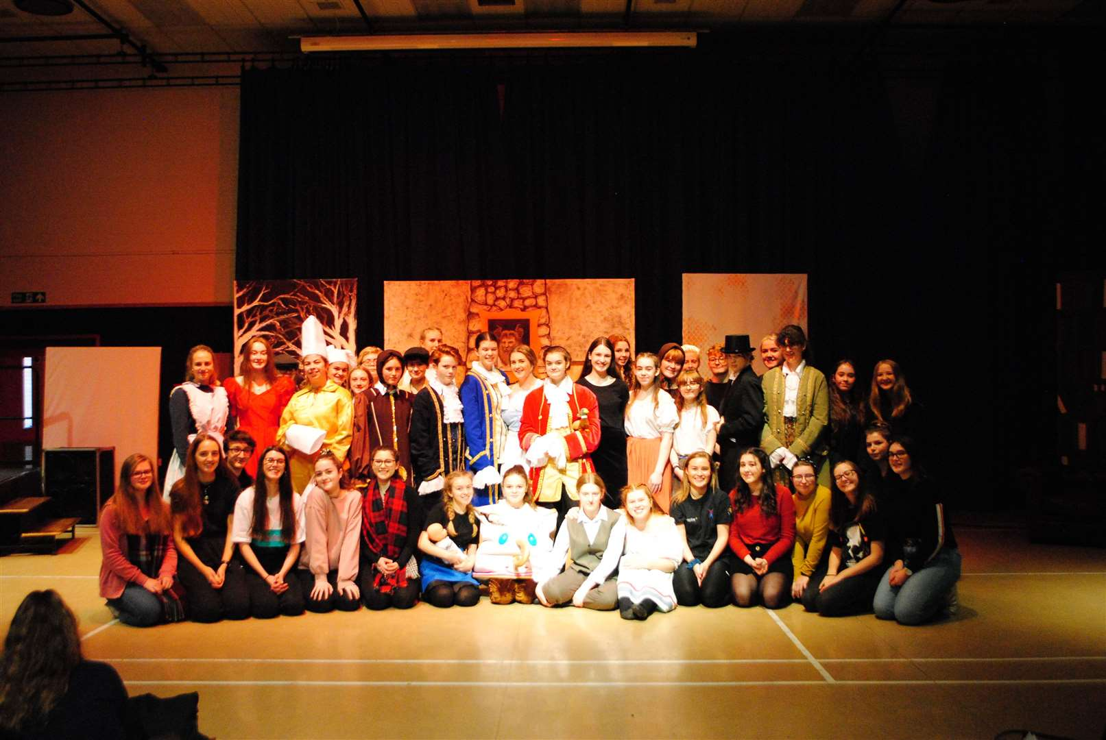 Pupils at KGGS performed Beauty and the Beast. (21719453)