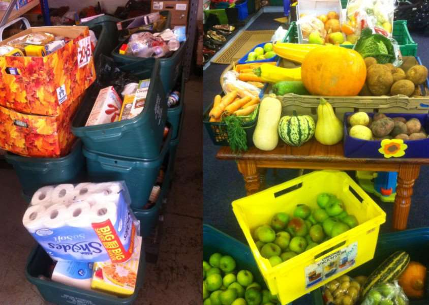 Just some of the generous donations to Grantham Foodbank this harvest.