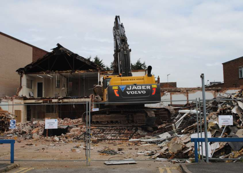 Former Grantham Journal offices are being demolished