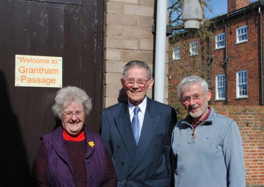 Making the project possible - from left, Ruby Stuckey MBE, Mike Monaghan, and David Lynn.