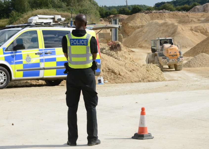 Investigations into a serious incident at Stainby Quarry.