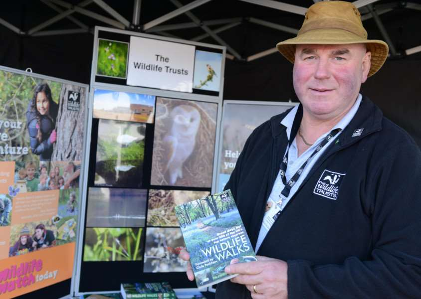 Martin Knowles at The Wildlife Trust stand at Grantham Canal Society's Discovery Day. Photo: TRP-9-10-2016-004B (9)