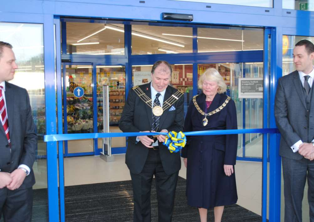 Opening of the new Lidl in Grantham.
