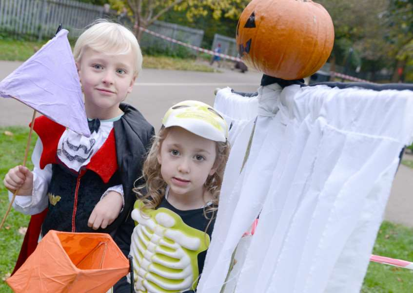 Halloween at Wyndham Park. Pictured are: Charlie and Sophie McAleese
