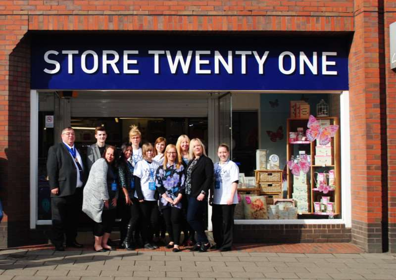 The team at the new Store Twenty One on Grantham High Street.