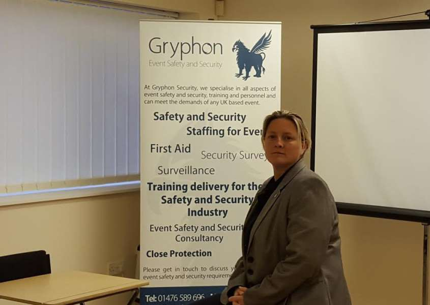 Kate Adey of Gryphon Event Safety and Security.