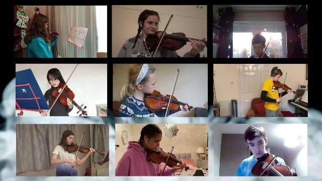 Lincolnshire Youth Virtual Orchestra. (43567210)