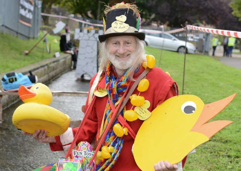 Organiser Tony Jackson hosted the duck race.
