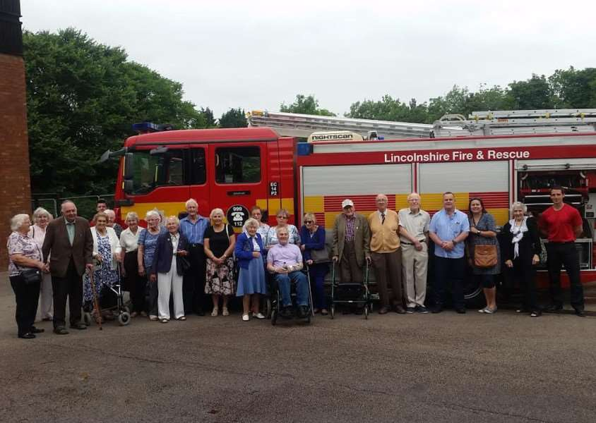 Members of Grantham Stroke Club visit Grantham Fire Station.