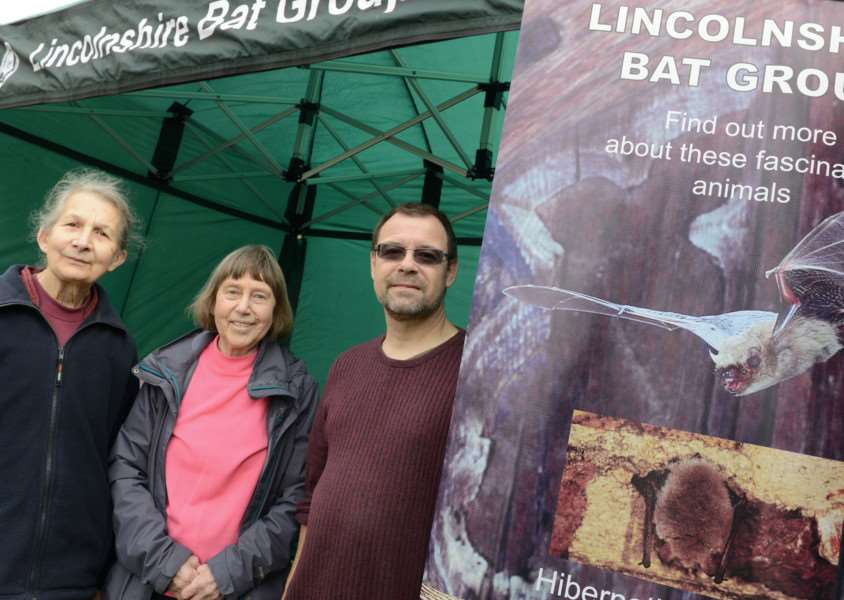Annette Faulkner, Hillary Williamson and Chris Barker from Lincs Bat Group