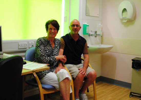 Arthur and Jackie Whatley in one of the consulting rooms at the Emerald Suite in Grantham Hospital. EMN-160613-161005001