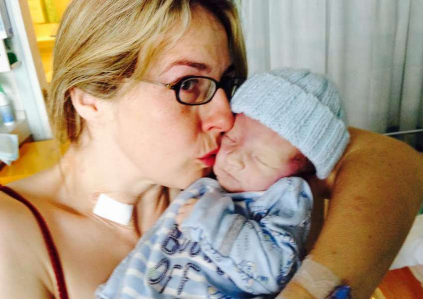 Michelle Dalhaug with baby Thor