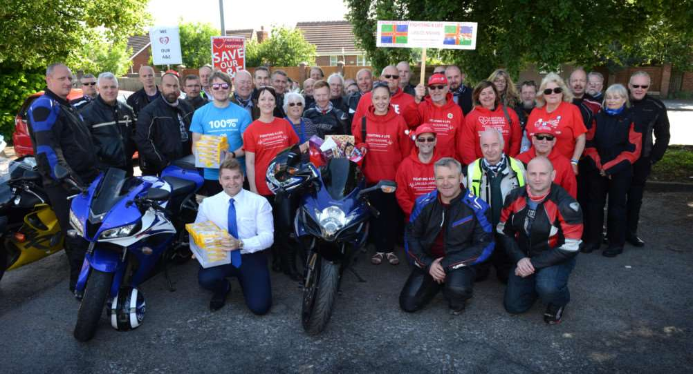 Fighting 4 Life Lincolnshire NHS Biker Run at Grantham Hospital.