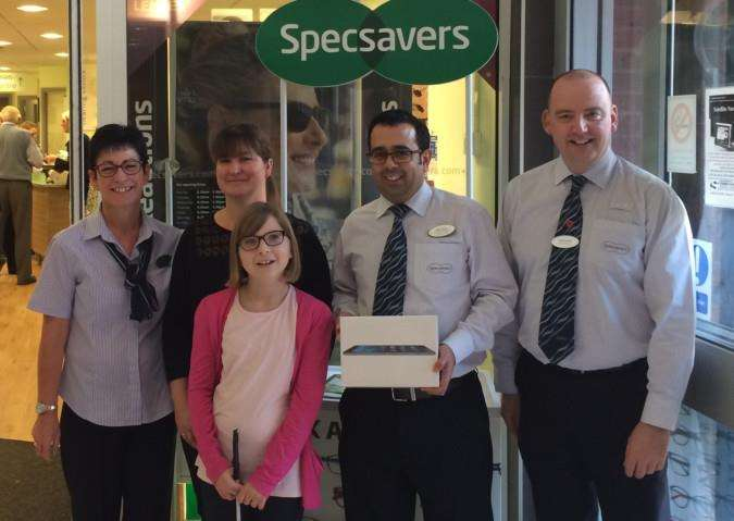 From left, store manager Tracey Gell, Kay Hollis with daughter Emily, store directors Bijal Ladva and Colin Ducker.
