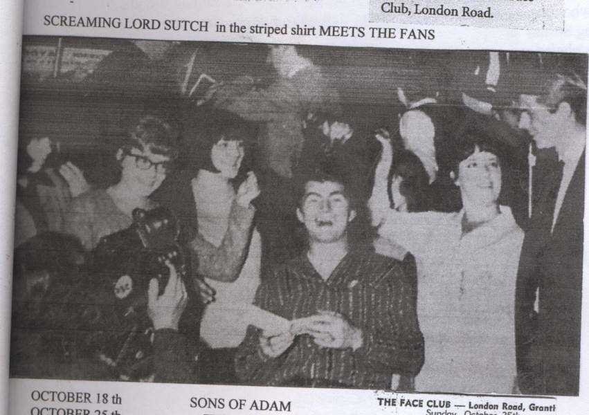 Screaming Lord Sutch who played at The Face Club in 1964.