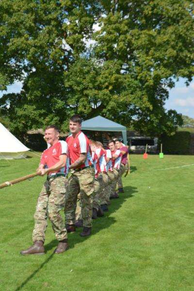 The tug of war at the Caythorpe Gala and Arnhem Commemoration.