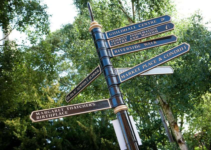 Signposting visitors to Grantham