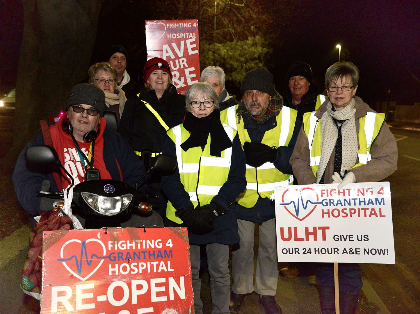 The vigil goes on at Grantham Hospital. (6753449)