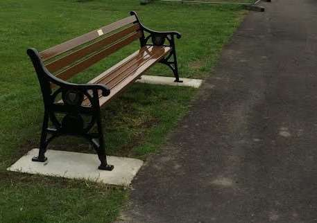 The bench created in memory of Jenny Sutherland.