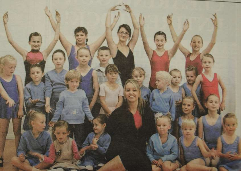 Photo of Dance Pointe, a new dance group which started up in Grantham, in 2006.