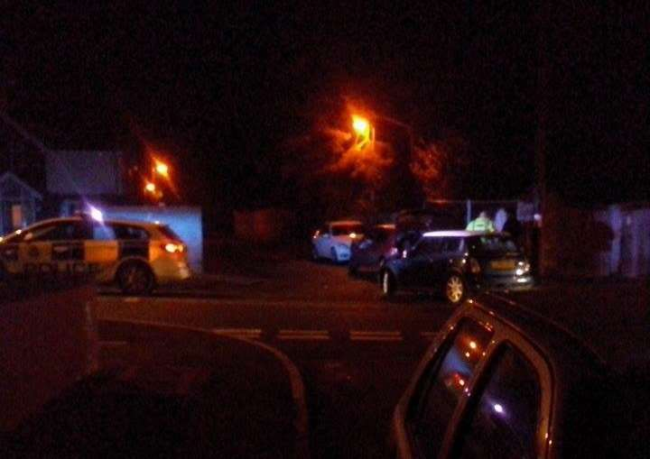 Police attend crash on Harrowby Road. Photo submitted