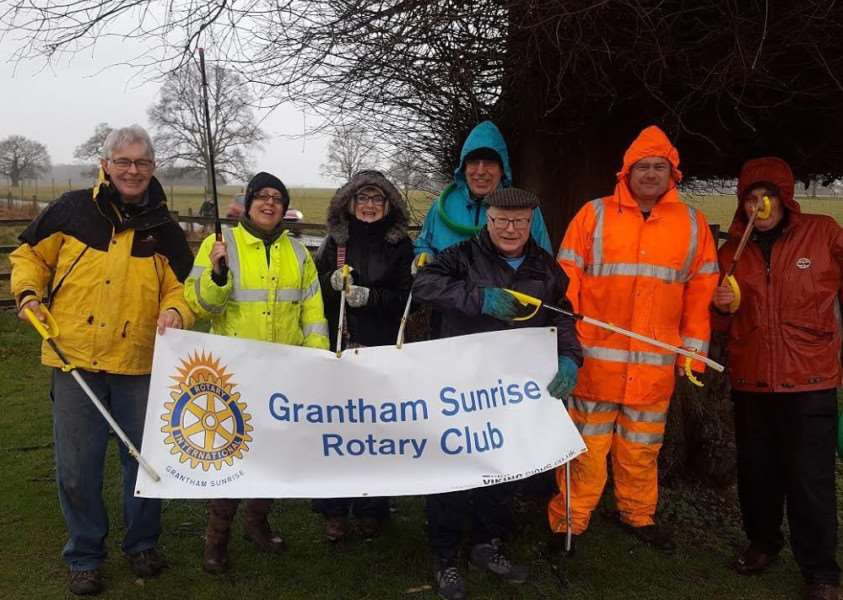 The Great British Spring Clean in Grantham.