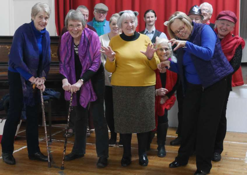Some of Grantham Singers' principals during a recent rehearsal for the show.
