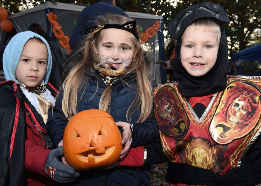 Brian Szegebi-varga, Zara Szentmartomi and Aiden Lukas enjoyed dressing up for the Halloween spooktacular in Wyndham Park.