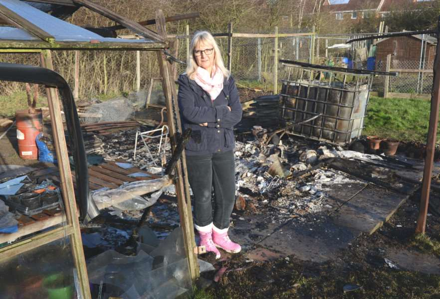 The suspected arson has completely wrecked Joy's fund-raising allotment. Photo: Toby Roberts.